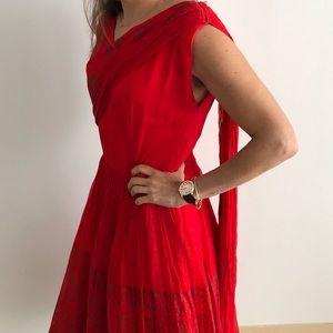 Vintage Red dress- Elinor Gay